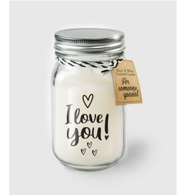 Black & white scented candle nr 17 i love you