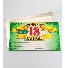 Cadeau-cheque nr 13 18 jaar