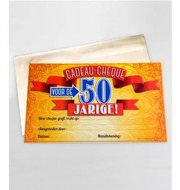 Cadeau-cheque nr 18 50 jaar