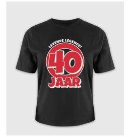 Leeftijd shirt nr 6 40 jaar