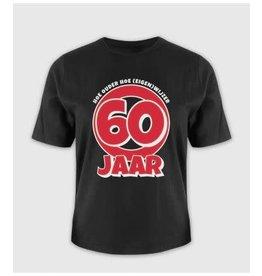 Leeftijd shirt nr 10 60 jaar