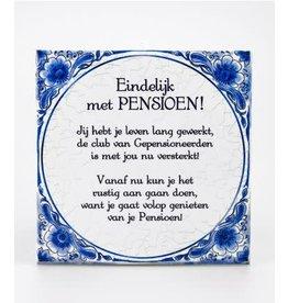 Delftse tegel nr 5 Pensioen