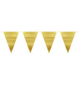 Vlaggenlijn mat metallic goud 6 meter