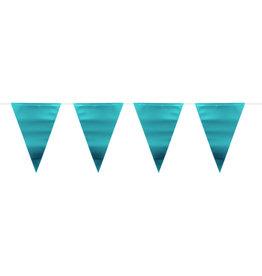 Vlaggenlijn metallic mat blauw 6 meter