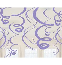 Amscan Swirl hangdecoratie lila 12 stuks
