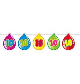 Vlaggenlijn ballon leeftijd 10