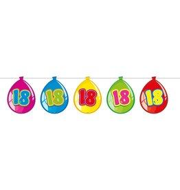 Vlaggenlijn ballon leeftijd 18