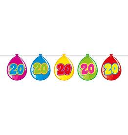Vlaggenlijn ballon leeftijd 20