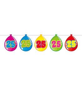 Vlaggenlijn ballon leeftijd 25
