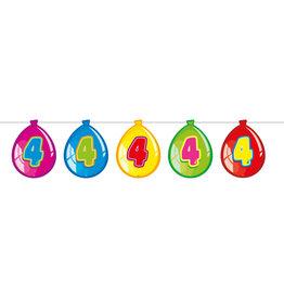 Vlaggenlijn ballon leeftijd 4