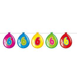 Vlaggenlijn ballon leeftijd 6