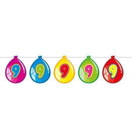 Vlaggenlijn ballon leeftijd 9