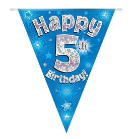 Vlaggenlijn happy 5th birthday