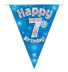 Vlaggenlijn happy 7th birthday