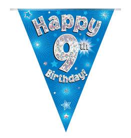 Vlaggenlijn happy 9th birthday