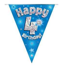Vlaggenlijn happy 4th birthday