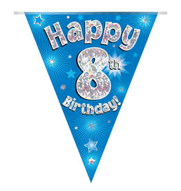 Vlaggenlijn happy 8th birthday