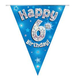 Vlaggenlijn happy 6th birthday