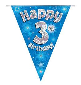Vlaggenlijn happy 3rd birthday