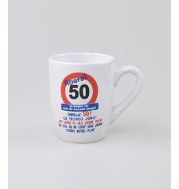 Tekstmok 50 jaar verkeersbord