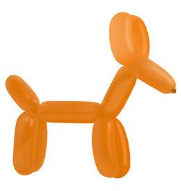 Modelleer ballonnen oranje 100 stuks