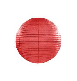 Papieren lampion rood 25cm