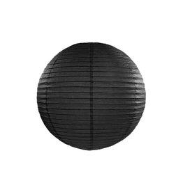 Papieren lampion zwart 25cm