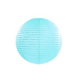 Papieren lampion baby blauw 25cm