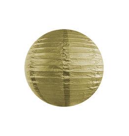 Papieren lampion goud 25cm
