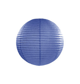 Papieren lampion blauw 25 cm