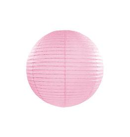 Papieren lampion 25 cm baby roze