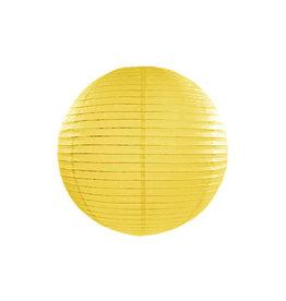 Papieren lampion geel 35cm