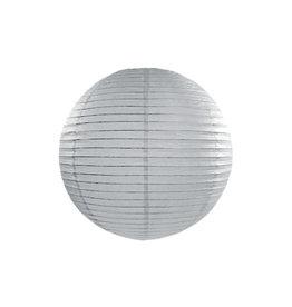 Papieren lampion grijs 35 cm