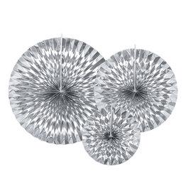 Rosettes zilver 3-pack diverse maten