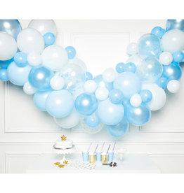 Ballonnenboogset DIY blauw 70 ballonnen
