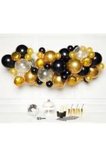 Ballonnenboogset DIY zwart/goud 66 ballonnen