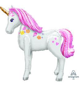 Amscan airwalker unicorn 116 cm hoog