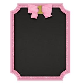 Amscan 1st birthday krijtbord roze