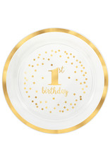 Amscan 1st birthday schaal goud 40,6 cm