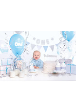 1st birthday decoratie set blauw 33-delig