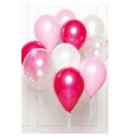 Ballonnenset roze/baby roze 10 stuks