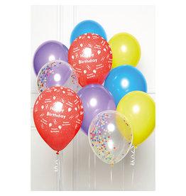 Ballonnenset happy birthday multicolour 10 stuks