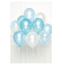 Ballonnenset blauw 10 stuks