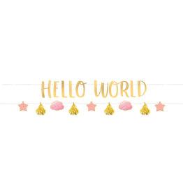 Amscan Hello world banner kit girl
