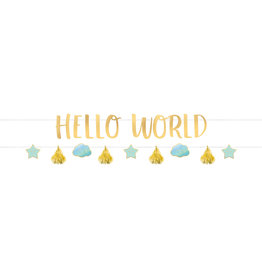 Amscan hello world banner kit boy