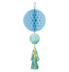 Amscan OH BABY honeycomb met decoratie blauw