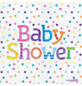 Babyshower servetten multicolour 16 stuks