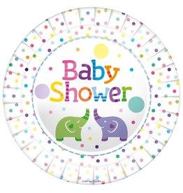 Babyshower borden multicolour 23 cm 8 stuks