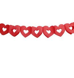 Papieren  slinger hart rood 3 meter