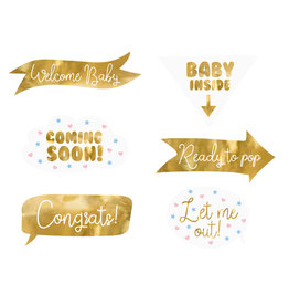 Baby shower party props 6-delig